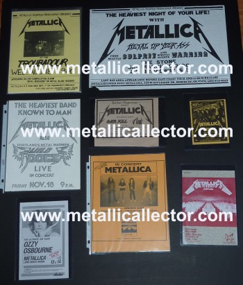 Assorted Metallica handbills & concert fliers