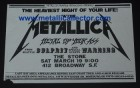 Metallica poster March 19, 1983 at The Stone - 2nd show with Cliff Burton