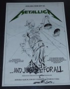 1988 And Justice For All promotional album release poster