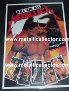 1984 signed Metallica Hell on Earth Tour poster