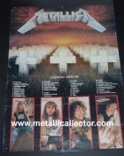 1986 signed Master of Puppets Tour poster