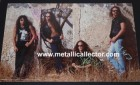 1991 Metallica poster signed in 1994 by band at a Cleveland,Ohio hotel