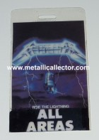 1984 Ride The Lightning Tour full access backstage pass