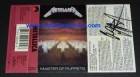 1986 signed Metallica Master Of Puppets cassette sleeve - James Hetfiled & Cliff Burton